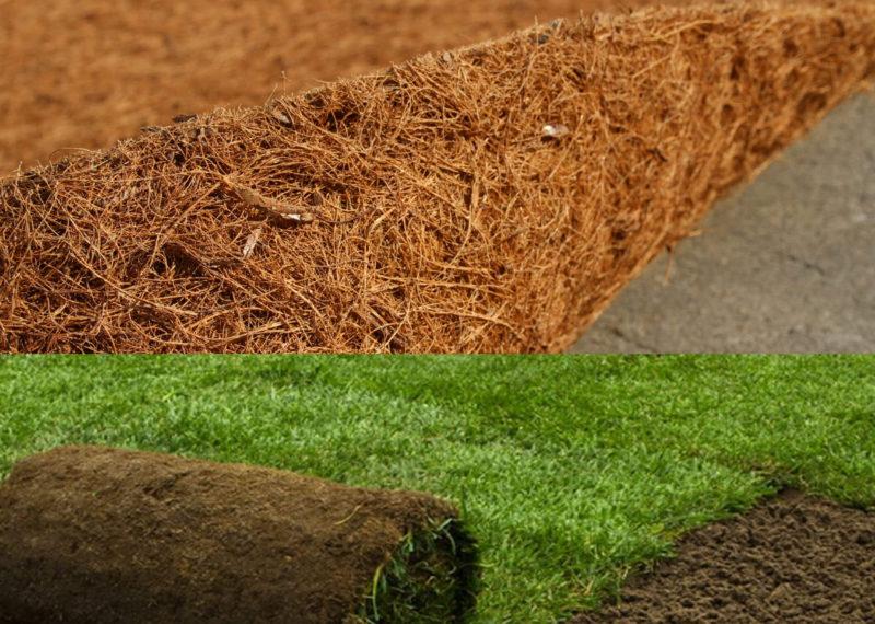 coir fibre mat for landscape applications
