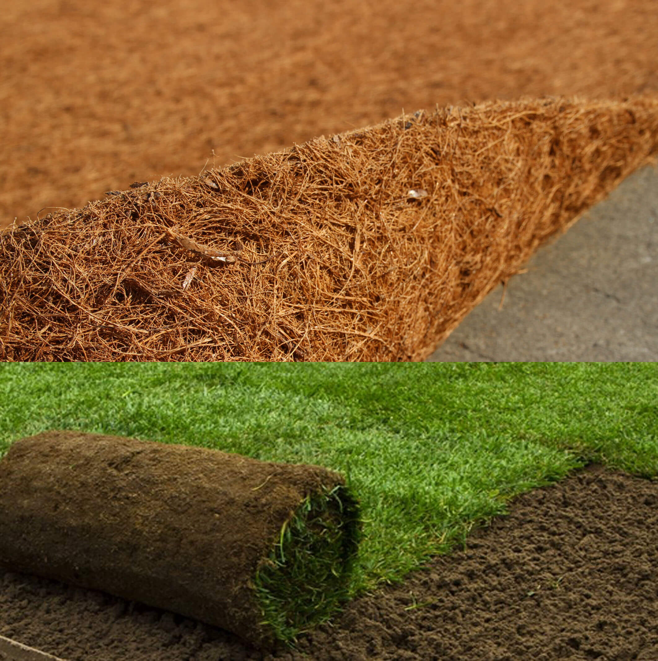 coir fibre mat for landscape applications