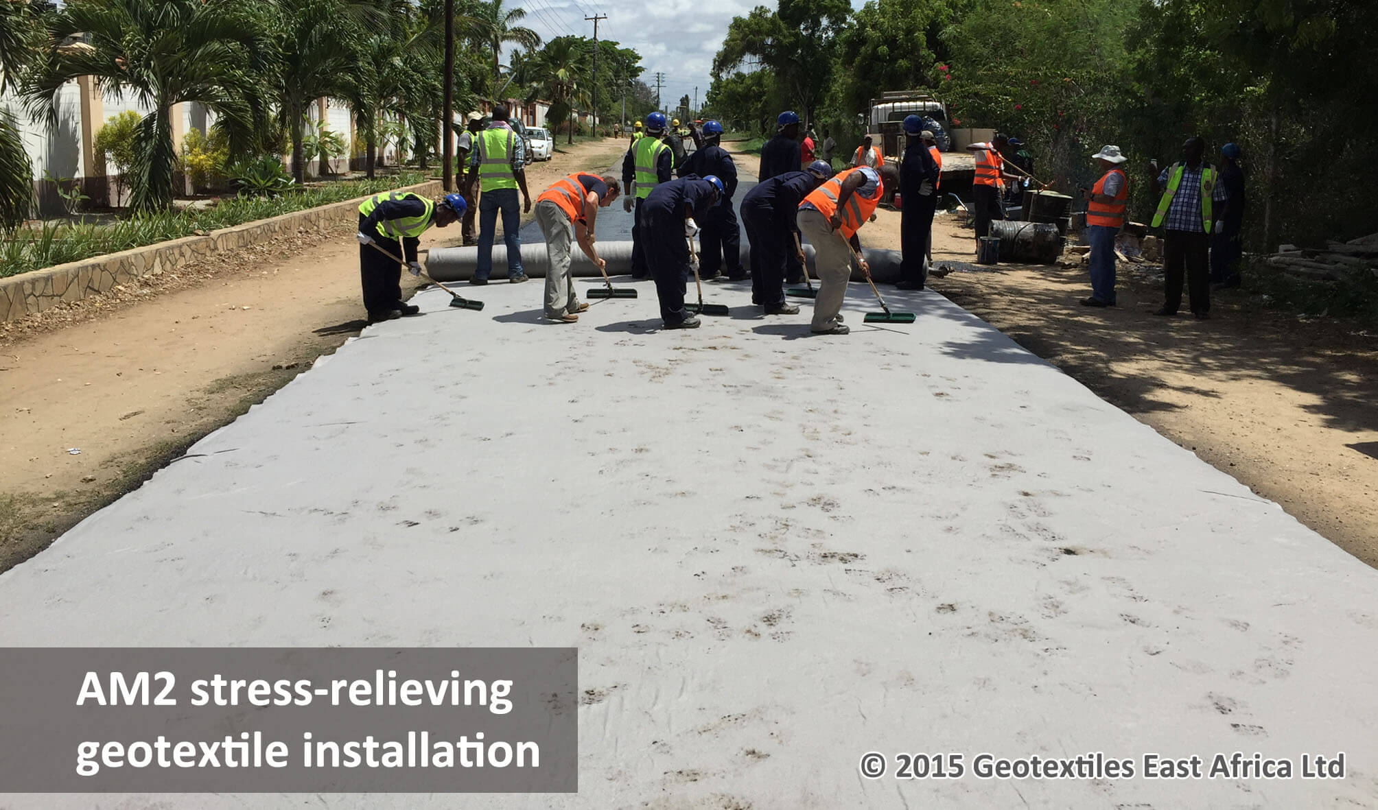 stress relieving geotextile SAMI for roads rehabilitation in kenya