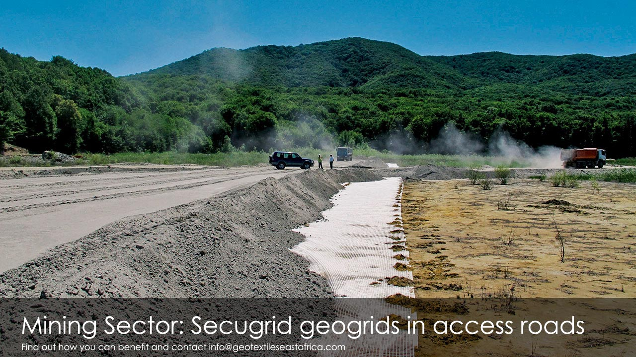 secugrid geogrids for access roads for mines