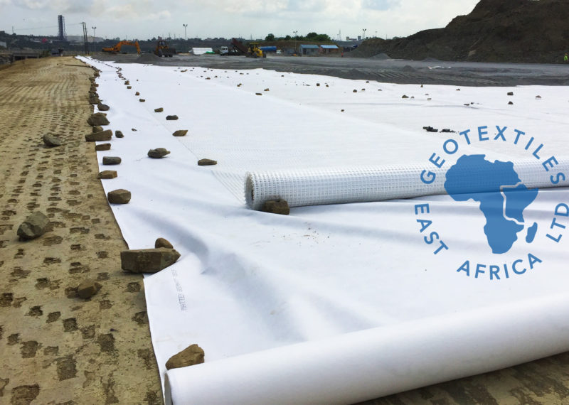 geotextiles and georgics being installed in a CFS Kenya
