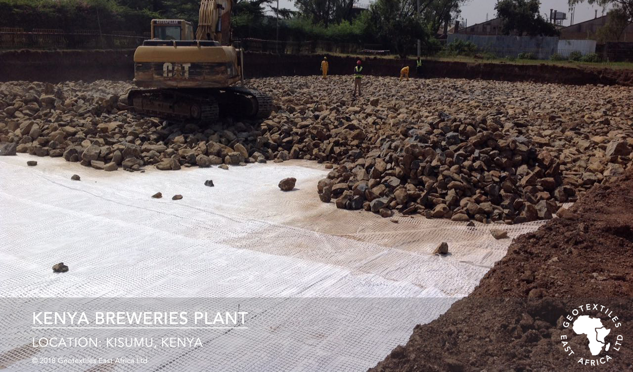 secugrid geogrid and geotextile installation on black cotton soils