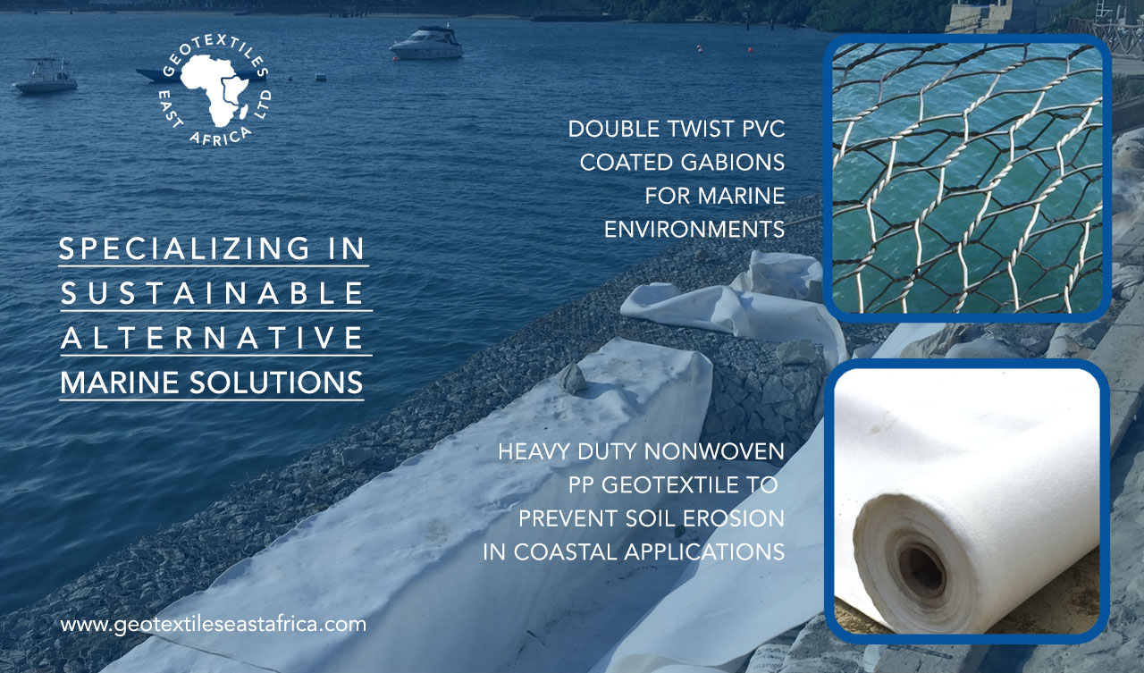 gabions and geotextiles for harsh corrosive marine environments