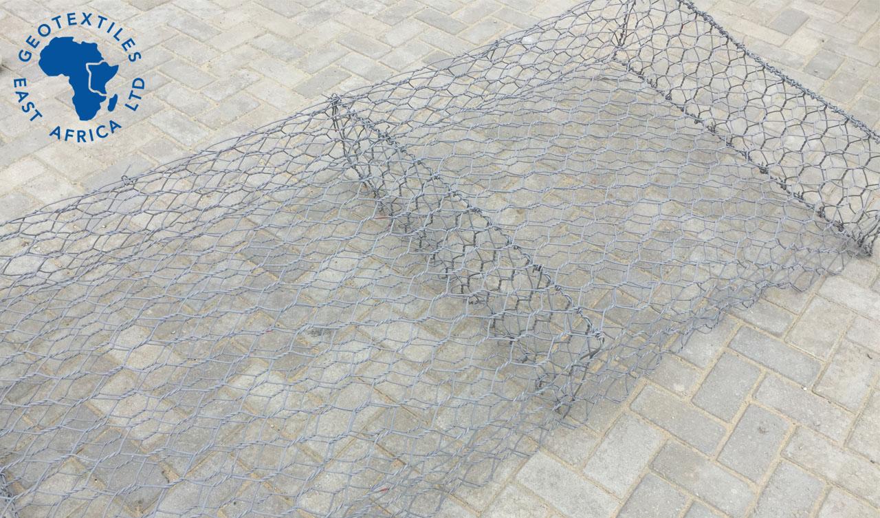pvc coated gabion twisted mesh mattress