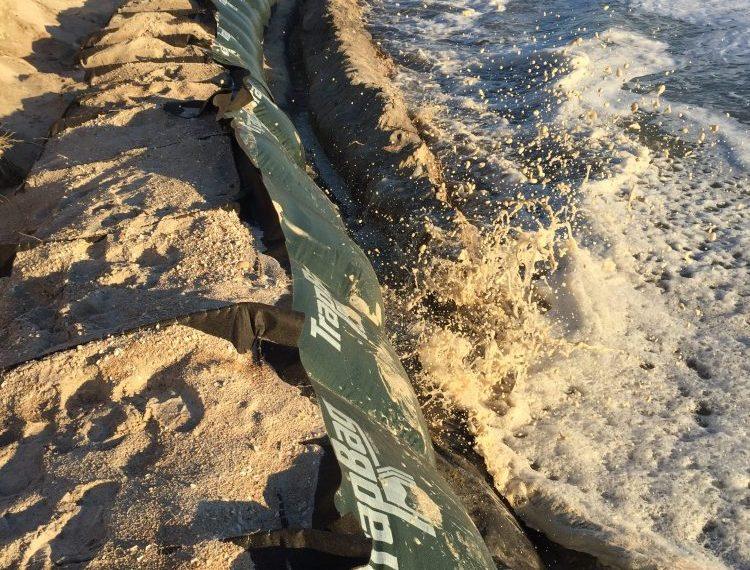 Trapbags for coastal erosion